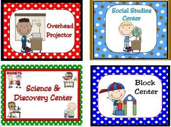 learning center signs and labels by and lively 443 | original 244056 1