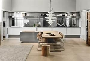 Cuisine Blanche Et Noire : cuisine blanche et inox id es et astuces en 90 photos ~ Nature-et-papiers.com Idées de Décoration