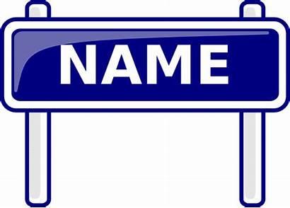 Clip Sign Clipart Names Naming Cliparts Nickname
