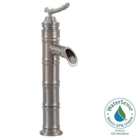 pegasus bamboo faucet brushed nickel pegasus bamboo single 1 handle bathroom vessel faucet