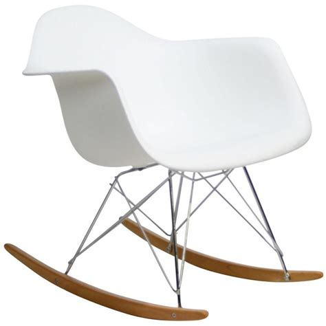 lexmod molded plastic armchair rocker in