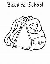 Backpack Coloring Pages Sheet Preschool Welcome Printable Template Sheets Bus Popular Coloringhome Pixar Disney Activity Printables Recognition Develop Creativity Ages sketch template