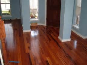 brazilian koa flooring with blue wall home decorations