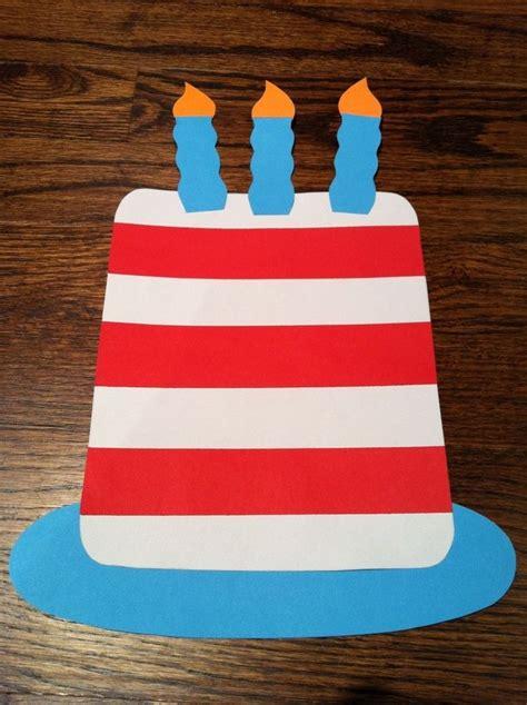 dr seuss birthday cake paper craft seuss crafts dr