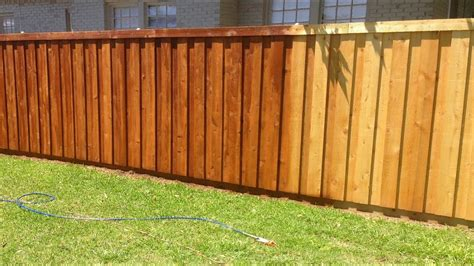 How We Stained Our New Cedar Wood Fence