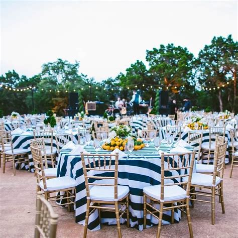 nautical theme with lemon accents love the tablecloths garden style reception decorations
