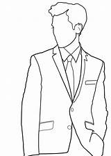Suit Pants Clipart Coat Pant Drawing Transparent Sketch Coloring Template Lineart sketch template