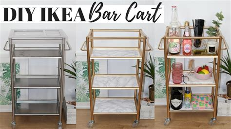 diy bar cart ikea hacks ep  super easy  affordable