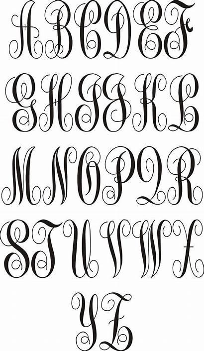 Cursive Fonts Letters Fancy Monogram Alphabet Capital