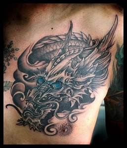 Black white dragon / chest tattoo | .ink. | Pinterest ...