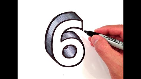 How To Draw The Number 6 In 3d