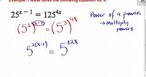 Example Solving Exponential Equations NOT Requiring Logs ...