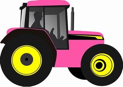 Tractor Clip Clipart Cartoon Pink John Deere