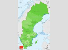 Political Shades Simple Map of Sweden, single color outside
