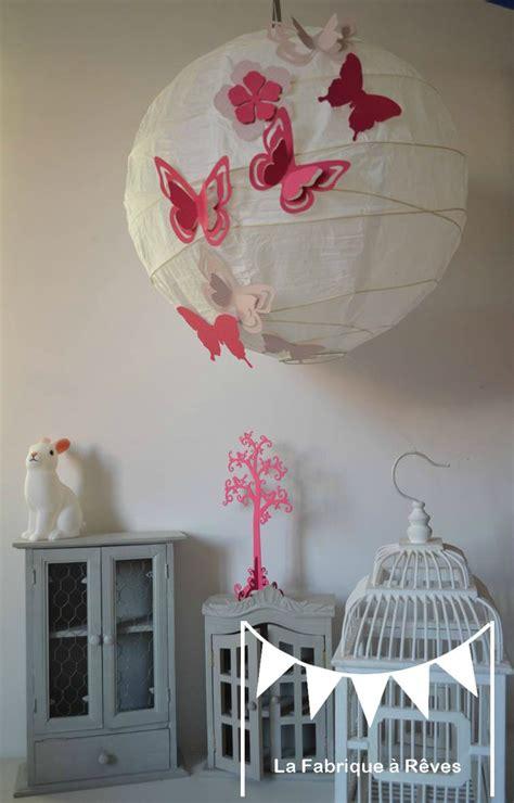 abat jour chambre bébé luminaire suspension abat jour papillons fleurs
