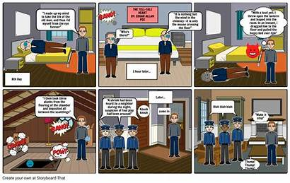 Tale Tell Comic Heart Strip Storyboard Slide