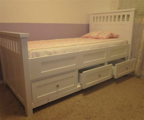 Glancing Ikea Twin Size Bed Frame Made In Black Color