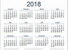 2018 Calendar Pdf 2018 calendar printable