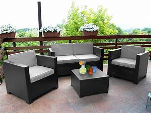 salon de jardin sophie ii en resine moulee 211 With salon de terrasse design