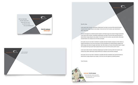 contemporary modern real estate business card