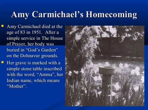 Amy Carmichael, Lady Christian Missionary In India