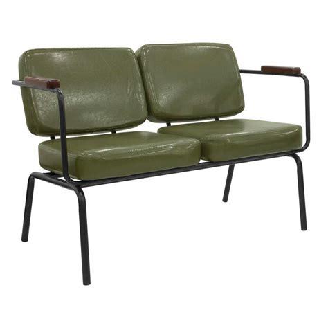 divanetto ecopelle divanetto due posti moderno in metallo verniciato con