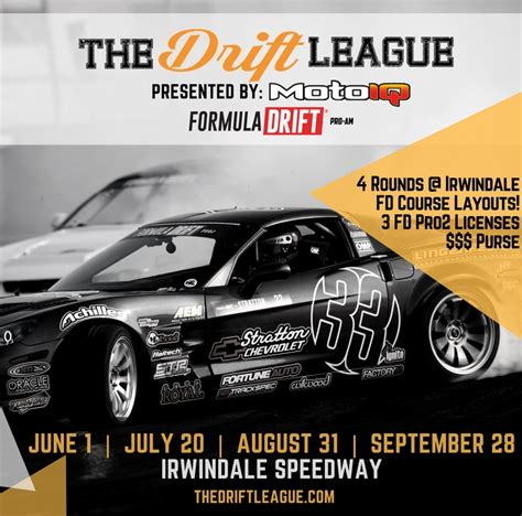 The Drift League, Formula DRIFT sanctioned Pro-Am Drift series to be managed by MotoIQ and ...