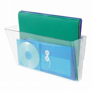 wall mounted stackable clear document folder holder tray With clear plastic wall mounted document holder