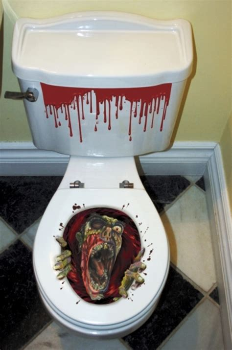 halloween decorations bathroom  scare   guests