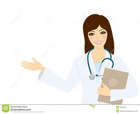 Woman Doctor Stock Vector. Illustration Of Environment