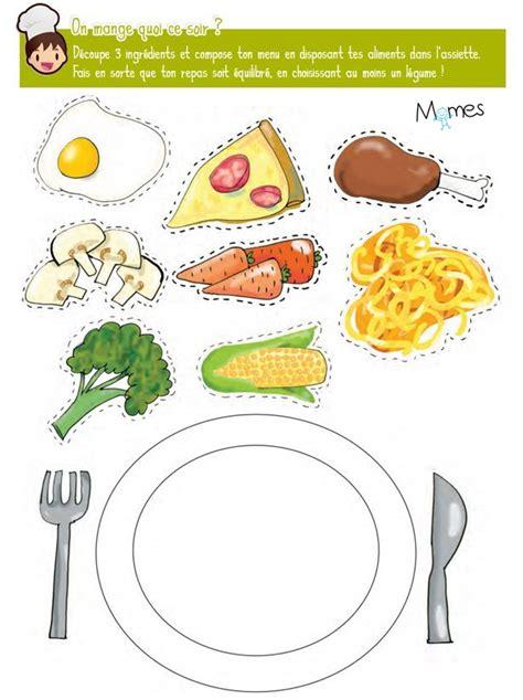 jeu pour faire de la cuisine jeu de l 39 assiette équilibrée momes