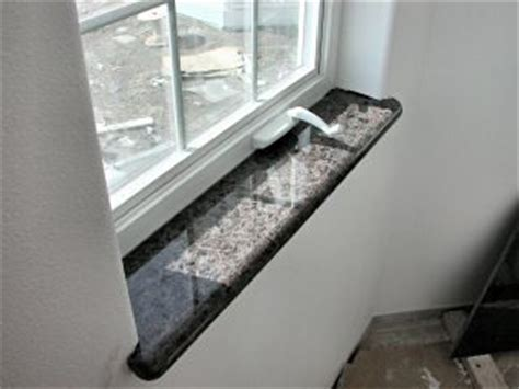 Brown granite windowsills for kitchen.   Never Ending Home