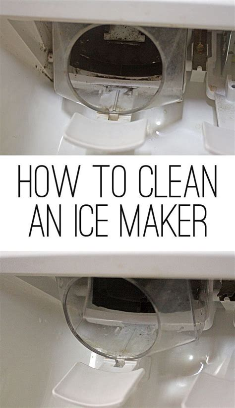 ice maker maintenance   clean  chemicals
