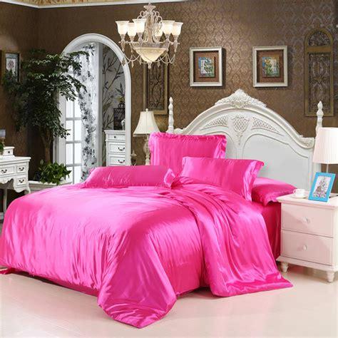 silk comforter sets 4pcs satin silk bedding set duvet quilt cover pillow 2220