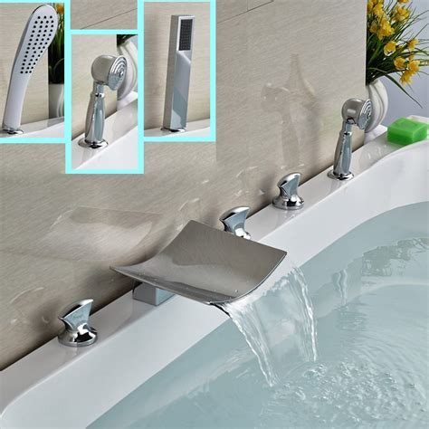 5 Tub Faucet by Aliexpress Buy 2016 New Brass Waterfall Spout
