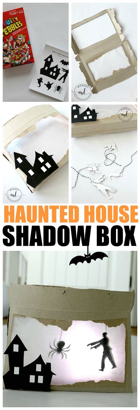 haunted house craft shadow box diy