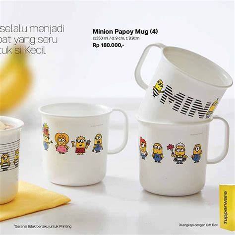 minion papoy mug tupperware promo terbaru tupperware