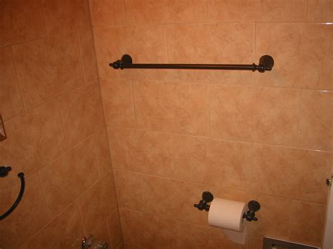 free installing ceramic tile towel bar