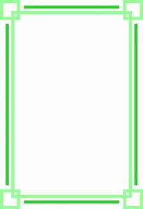 Border Green   Free Stock Photo   Illustration of a blank ...