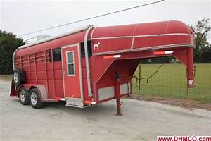 Used Calico Stock Trailer With Living Quarters    Dixie Horse  U0026 Mule Co