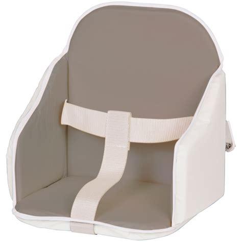 coussin pour chaise haute combelle coussin de chaise pvc gris blanc de candide sur allobébé