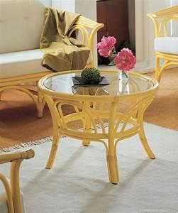 Table Basse Rotin : table basse ronde en rotin brin d 39 ouest ~ Teatrodelosmanantiales.com Idées de Décoration
