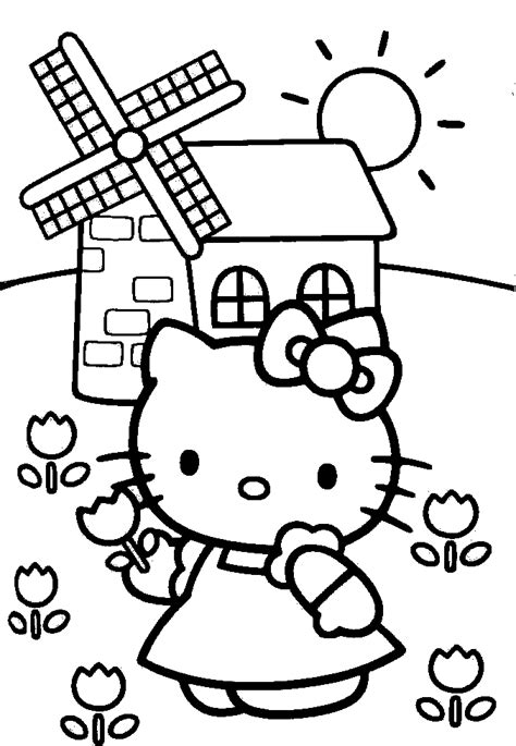 hello kitty free coloring pages printable coloring pages