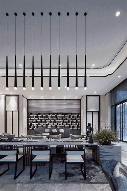 Hotel Reception Furniture Entertainment Decor Asian Wall