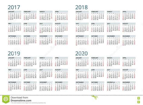 calendar week starts sunday simple vector