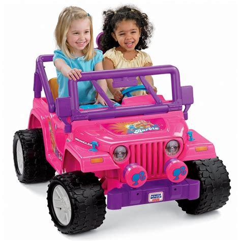 barbie jammin jeep power wheels barbie jammin jeep wrangler by fisher price