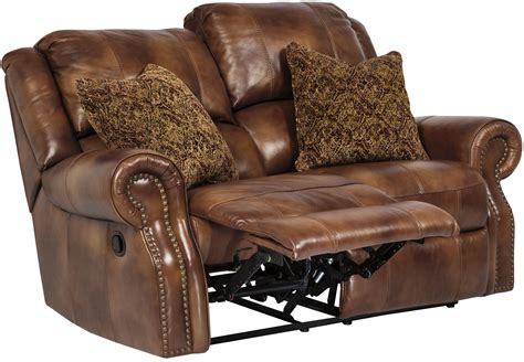 loveseat leather sofa walworth auburn reclining loveseat from u7800186