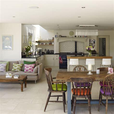 Kitchen Sitting Room Ideas - open plan kitchen design ideas ideal home