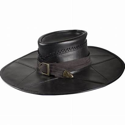 Hat Leather Witch Hunter Brown Wide Medieval