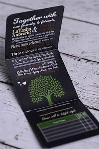 custom tree wedding invitations canada empire invites With tri fold wedding invitations canada
